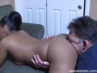Ebony mistress demands old man to...