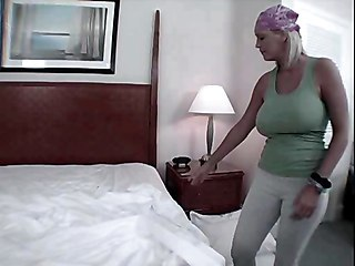 Hot Milf Cleans The House And Drains The