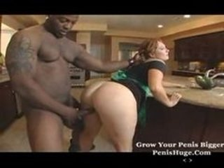 Ass  Chubby Doggystyle Interracial Kitchen Maid