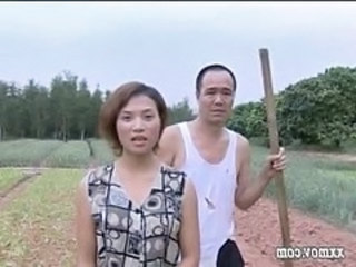 Asian Chinese Daddy Daughter Farm Old and Young Outdoor
