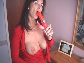 British MILF fucks herself with a...