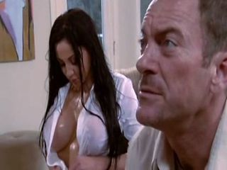 Busty Brunette Gets Big Piston In Her...