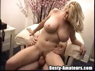 Busty Amateur Porn Star Heather Rides On A Hard White Cock