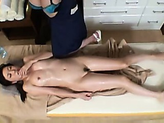 Asian Lesbian Massage  Oiled