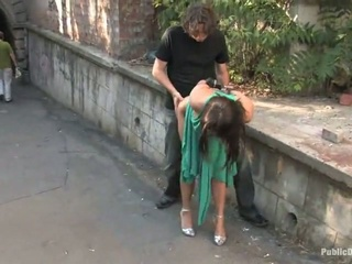 Cute Lea Drilled Hard In A Public Place Outdoor