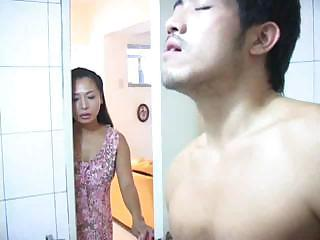Asian Bathroom Mom Old and Young Voyeur