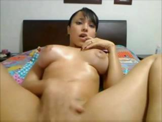 Asian Masturbating  Solo Webcam