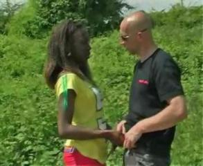 A Black Woman Fuck With A Her Guy In The Forest