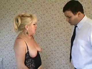Blonde Milf Domme In Stockings Face Sits
