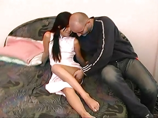 Asian Interracial Old and Young Teen
