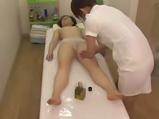 Asian HiddenCam Japanese Massage Oiled Voyeur