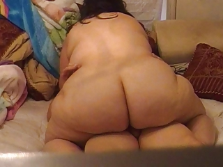 Plumpluvs Fat Huge Butt Riding Dick