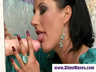 Gloryhole Lady Sucks  Big Represent Cock