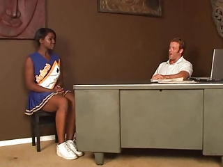 Cheerleader Daddy Ebony Interracial Old and Young Teacher Teen Uniform