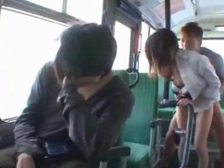 Asian Bus Clothed Japanese  Public Secretary