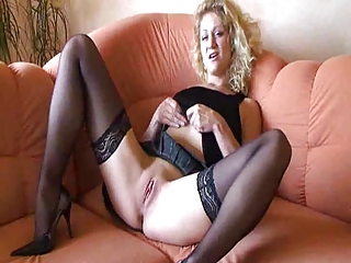 Maturbating Blond Fingers Her Pussy