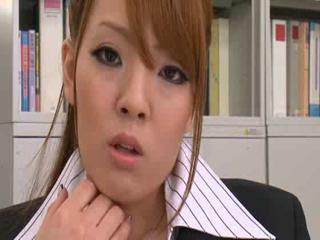 Amazing Asian Japanese  Office Pornstar Redhead Secretary