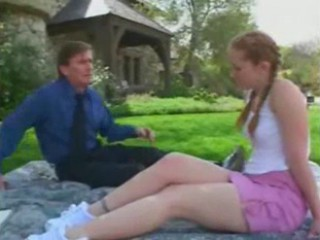 Daddy Old and Young Outdoor Pigtail Teacher Teen