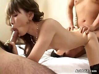 Asian Blowjob Japanese  Nipples Small Tits Threesome