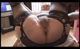 Hairy Busty Mature Lady In Slip...