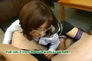 Asian Glasses Handjob  Pornstar Stockings Teacher
