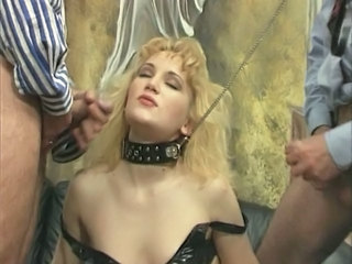 Blonde Fetish Pornstar Threesome Vintage