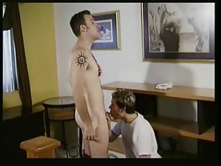 Blond And Dark Haired Guy Have Sex