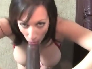 Mature Brunette Gets Interracial...
