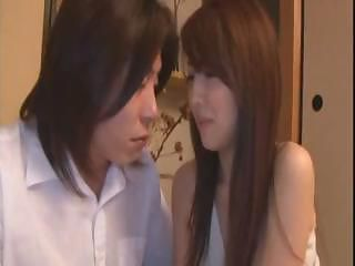 Sleeping Japanese housewife gets some love from her husband