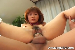 Cute Readhead Japanese Teen Spre...
