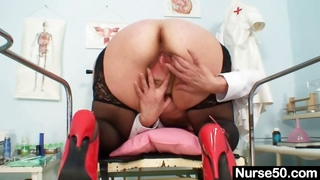 Filthy Mature Lady Toys Her Hair...