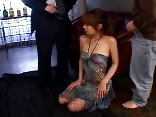 Asian Babe Forced Japanese Threesome