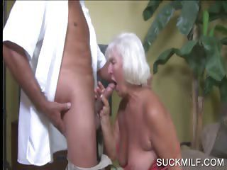 Blowjob With Sweltering Blonde Cougar