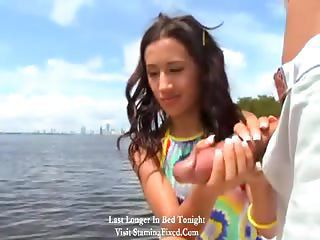 She Takes A Huge Cock On A Boat