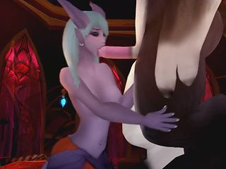 World of Warcraft hand and blowjob