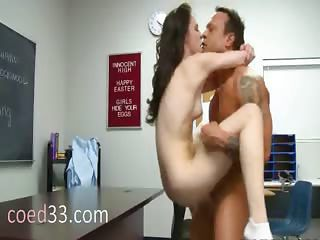 Horny Teacher Fucks A Beautiful Brunett