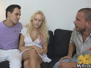 Guy lures his brother's girlfriend into sex
