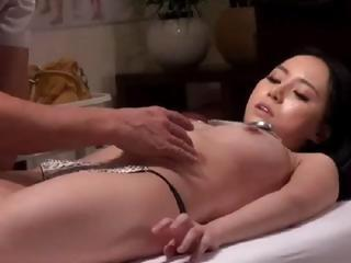 Asian Cutie Getting A Massage And Then F...