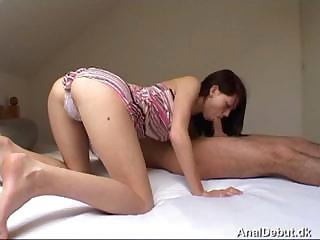 Young Brunette Gets Her Tight Ass Fucked