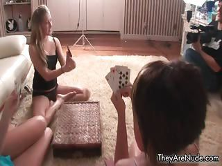 Strip Poker Playing Party Babes Getting