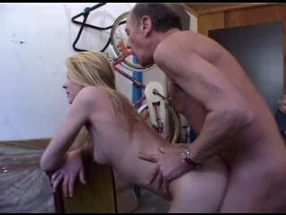 A Blonde Teen Fucks An Old Man