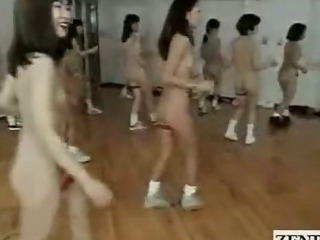 Subtitled Bizarre Japanese Nudist Group...