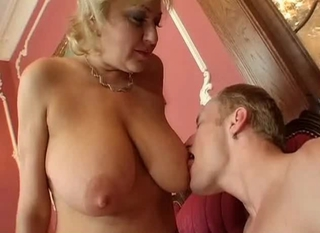 Busty Blonde Mature In Stockings Fucks T...