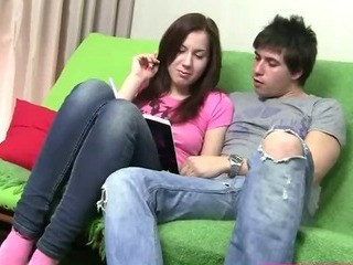 Delightful Young Brunette Fucked Convenient Home