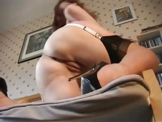 Stockinged British Redhead Shows What Sh...