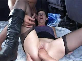 French Old bag A29 Gangbang Nympho Mature V...