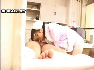 Horny Japanese Nympho Nurse Services Pat...