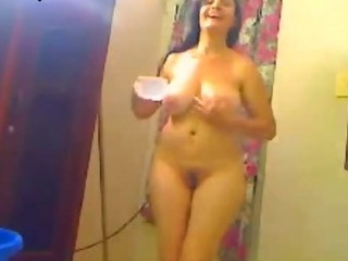 Indian Wife Shower For Her Hubby On A We...
