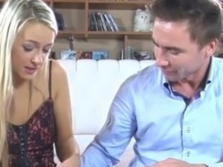 Blonde pretty has her strapon surprise revealed till dealing swapping act