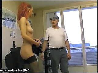Maid In Stockings Gets Banged